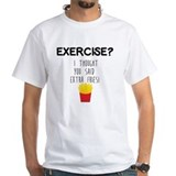 Exercise Mens Classic White T-Shirts