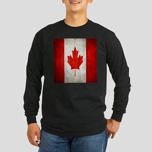 Vintage Canadian Flag Long Sleeve T-Shirt