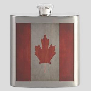 Vintage Canadian Flag Flask