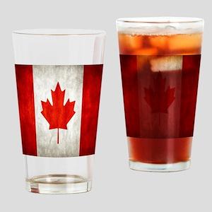 Vintage Canadian Flag Drinking Glass
