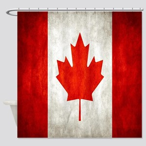 Vintage Canadian Flag Shower Curtain