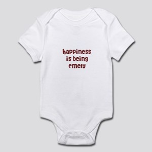 happiness is being Emely Infant Bodysuit