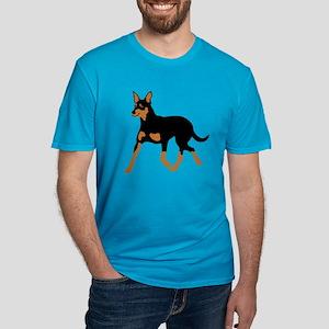 Australian Kelpie Men's Fitted T-Shirt (dark)