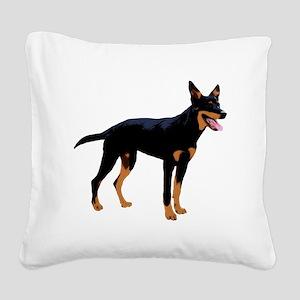 Australian Kelpie Square Canvas Pillow