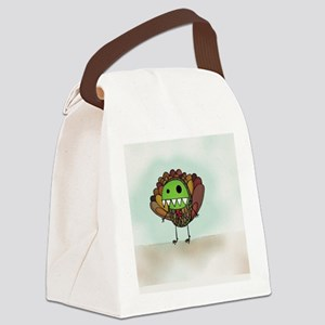 Pea Monster Turkey Canvas Lunch Bag