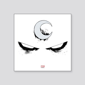 "Moon Knight Face Square Sticker 3"" x 3"""