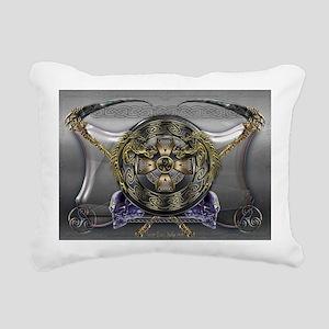 Ankou Shield Rectangular Canvas Pillow