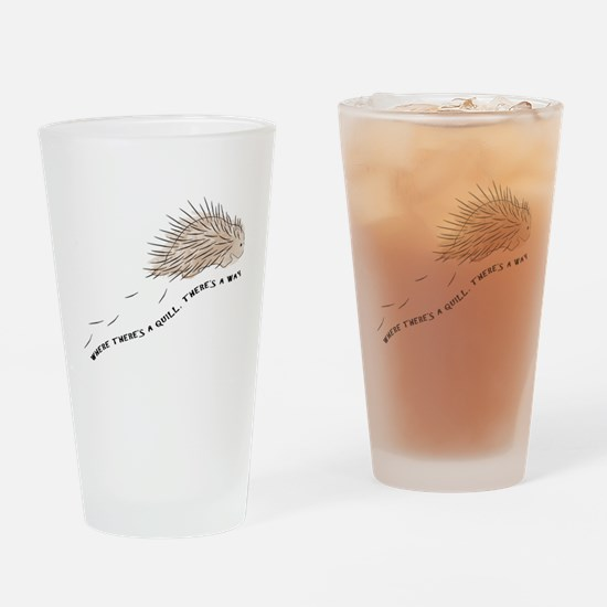 Cute Porcupine Drinking Glass