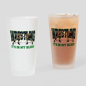wrestling31light Drinking Glass