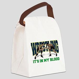 wrestling31light Canvas Lunch Bag