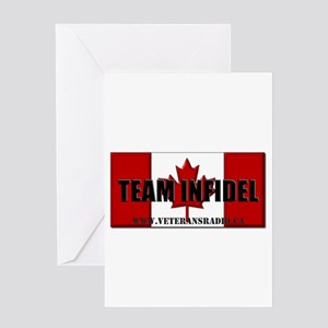 Team Infidel Flag Greeting Cards