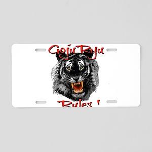 Goju Ryu Black Tiger design Aluminum License Plate