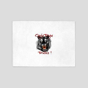 Goju Ryu Black Tiger design 5'x7'Area Rug