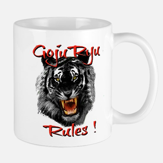 Goju Ryu Black Tiger design Mugs