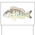 Pigfish Yard Sign