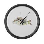 Pigfish Large Wall Clock