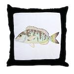 Pigfish Throw Pillow