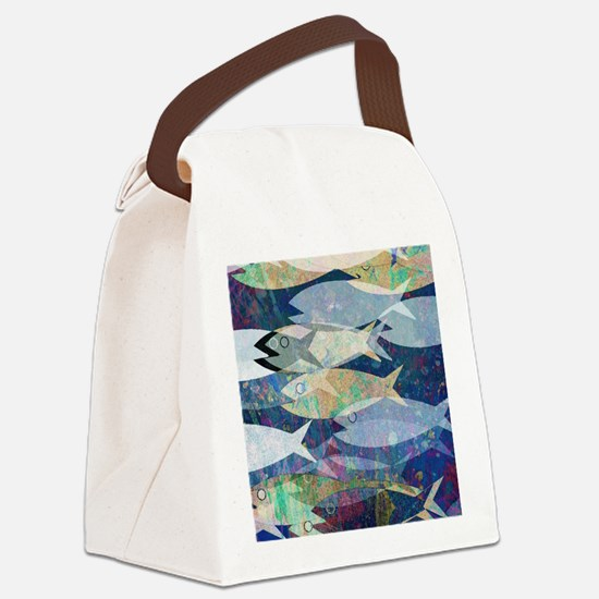 Cute Fish Canvas Lunch Bag