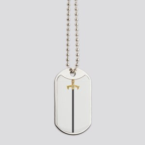 sword of the knights templar Dog Tags