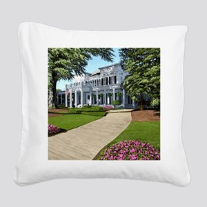 Alpha Gamma Delta -1-UGA Square Canvas Pillow