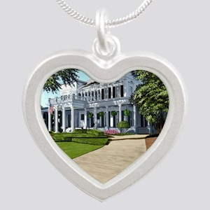 Alpha Gamma Delta -1-UGA Silver Heart Necklace