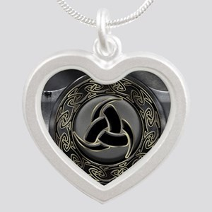 Odin's Horn Silver Heart Necklace