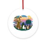 Stfrancis-Lab & Sheltie Ornament (round)