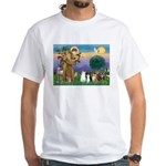 StFrancis-Lab & Sheltie White T-Shirt
