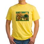 StFrancis-Lab & Sheltie Yellow T-Shirt