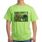 StFrancis-Lab & Sheltie Green T-Shirt
