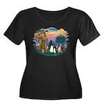 StFranci Women's Plus Size Scoop Neck Dark T-Shirt
