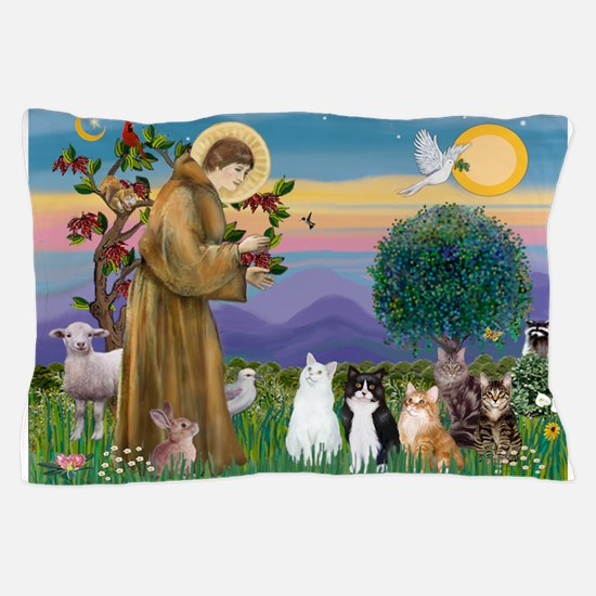 Stfrancis-Lab & Sheltie Pillow Case