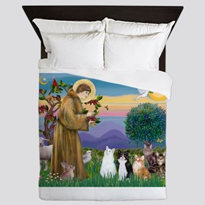 Stfrancis-Lab & Sheltie Queen Duvet
