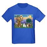 StFrancis-Lab & Sheltie Kids Dark T-Shirt