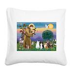 StFrancis-Lab & Sheltie Square Canvas Pillow