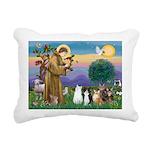StFrancis-Lab & Sheltie Rectangular Canvas Pillow