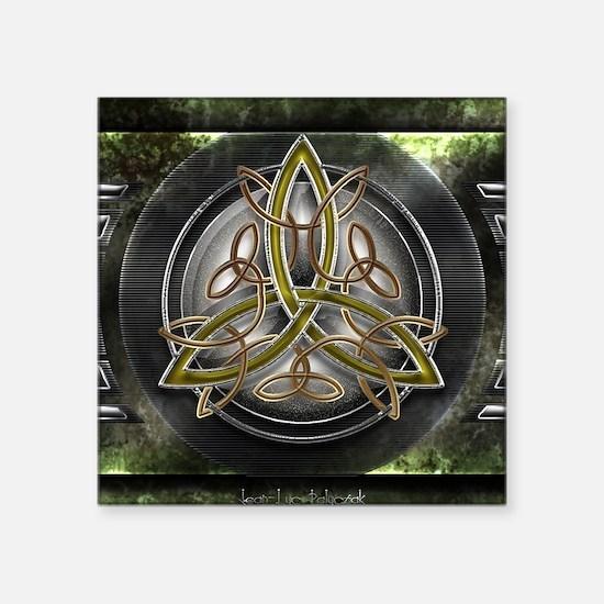 """Shield Celtic Triquetra Square Sticker 3"""" x 3"""""""