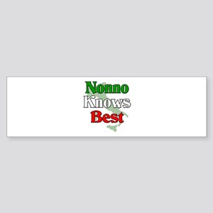Nonno Knows Best Bumper Sticker