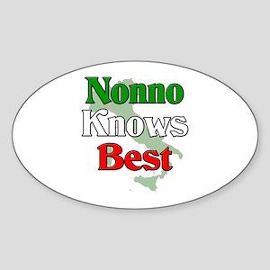 Nonno Knows Best Oval Sticker