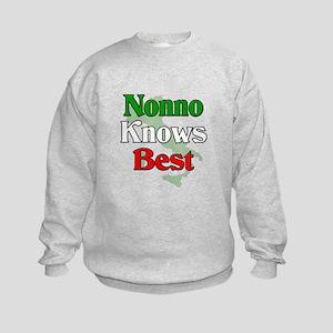 Nonno Knows Best Kids Sweatshirt
