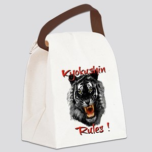 Kyokushin Black Tiger design Canvas Lunch Bag