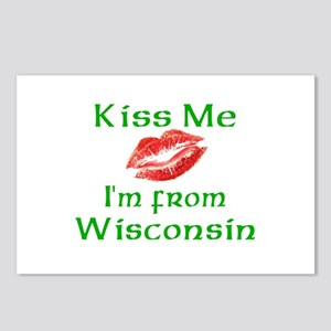 Kiss Me I'm from Wisconsin Postcards (Package of 8