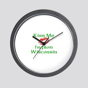 Kiss Me I'm from Wisconsin Wall Clock