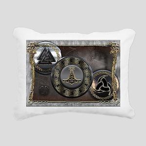 Vikings Shields Rectangular Canvas Pillow