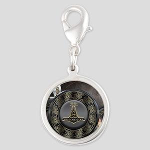 Vikings Shields Silver Round Charm