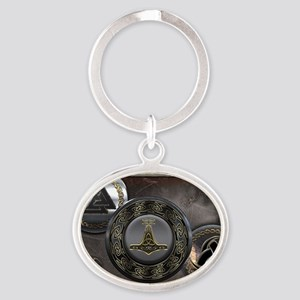 Vikings Shields Oval Keychain