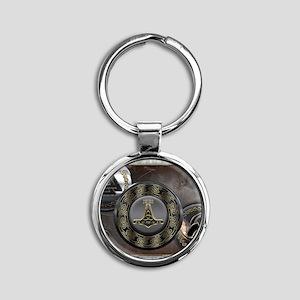 Vikings Shields Round Keychain