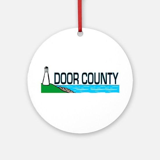 Door County Ornament (Round)