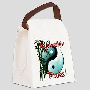 Yin Yang and Bamboo Kyokushin design Canvas Lunch