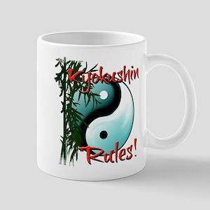 Yin Yang and Bamboo Kyokushin design Mugs